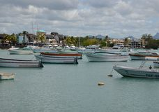 Grand Baie 2. Grand Baie, the city in the north of Mauritius Stock Photos