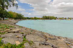 Grand Baie in Mauritius Stock Images