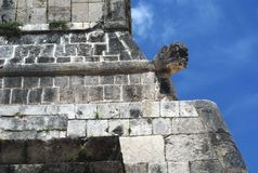 Grand Ballcourt details in Chichen Itza, Mexico Royalty Free Stock Photos
