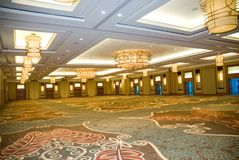 Grand Ballroom. And large meeting area Stock Photos