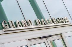 Grand Ballroom sign Stock Image