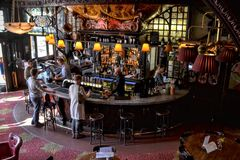 Grand bar London pub Royalty Free Stock Image