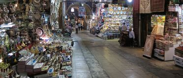 Grand Basar in Istanbul after the closing Hour, in Turkey Stock Photos