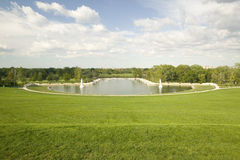 Grand Basin looking from top of Art Hill in Forest Park, St. Louis, Missouri Stock Photography