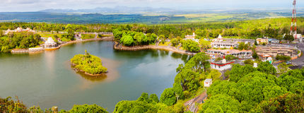 Grand Bassin crater lake on Mauritius. Royalty Free Stock Image