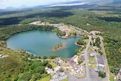Grand bassin lake, Mauritius. Aerial view of grand bassin lake, Mauritius royalty free stock images