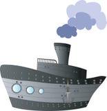 Grand bateau illustration de vecteur