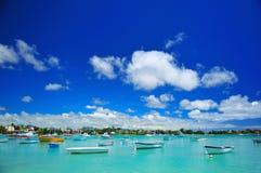 Grand Bay Lagoon. A view of mauritius grand bay lagoon Stock Image