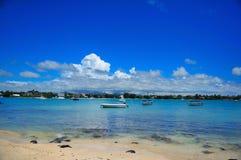 Grand Bay Lagoon. A view of mauritius grand bay lagoon Royalty Free Stock Images