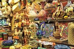 Grand Bazaar Istanbul. Shop selling porcelain on the Grand Bazaar,Istanbul,Turkey stock photos