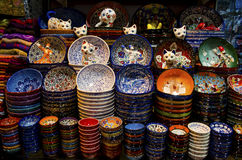 Grand Bazaar Istanbul - colorful souvenirs Royalty Free Stock Image