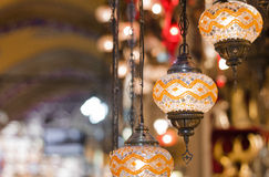 Grand Bazaar, Istanbul. Turkish traditional lamp for sale in the Grand Bazaar, Istanbul, Turkey Stock Photo