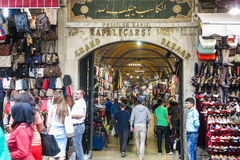 Grand Bazaar in Istanbul with unidentified people. TURKEY Royalty Free Stock Images