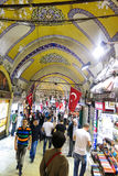 Grand Bazaar in Istanbul with unidentified people. TURKEY Royalty Free Stock Photo