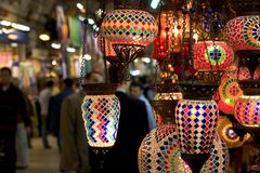 Grand Bazaar Lamps Stock Photo