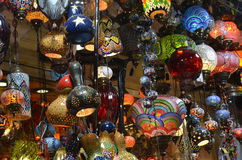 Grand bazaar lamps. Old lamps from istanbul Stock Photos