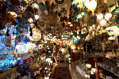 Grand Bazaar Lamps in Istanbul, Turkey Royalty Free Stock Image