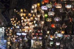 The Grand Bazaar, one of the oldest shopping mall in history. This market is in Istanbul, Turkey stock images