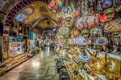 Grand Bazaar for shopping in Istanbul,Turkey royalty free stock image