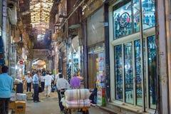 Grand Bazaar shopping street, Iran royalty free stock photography
