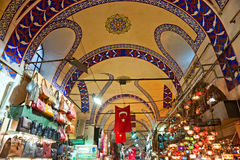 Grand bazaar shops in Istanbul. Royalty Free Stock Photography