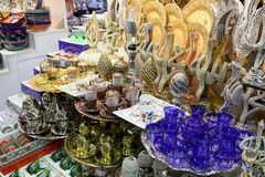 Grand Bazaar Souvenirs Closeup. In Istanbul Turkey Royalty Free Stock Photos