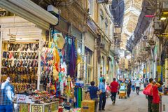 Grand Bazaar street row, Tehran royalty free stock image