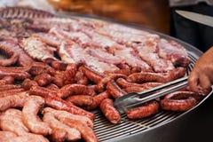 Grand BBQ de viande photographie stock