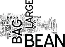 Grand Bean Bag Word Cloud Concept Illustration Stock