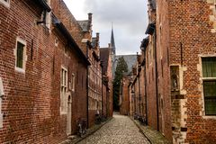 13th century Grand Beguinage of Leuven, Belgium. UNESCO World Heritage site. The Grand Beguinage Groot Begijnhof of Leuven Louvain, Lovania, Belgium is a well stock image
