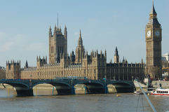 Grand Ben et Chambre du Parlement - Londres Photo stock