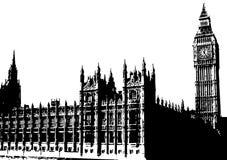 Grand Ben Londres R-U illustration stock