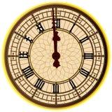 Grand Ben Midnight Clock Face Photographie stock
