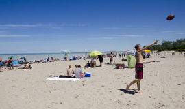 Grand Bend Ontario, Canada - July 02, 2016: Unidentified people Royalty Free Stock Photography