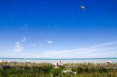 Grand Bend Ontario, Canada - July 02, 2016:  Unidentified people Stock Photo
