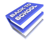Grand Big Large school book 3d blue Royalty Free Stock Photo