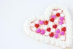 Grand biscuit simple de valentine d'isolement sur le blanc Photo libre de droits