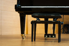 Grand black piano Royalty Free Stock Photos