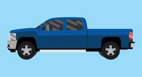 Grand bleu de collecte de voiture de camion de Suv Image stock