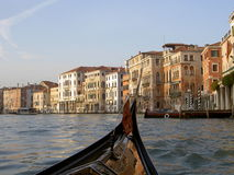 Grand Boat Ride. Taken from a gondola ride in the Grand Canal; Venice, Italy Stock Photos