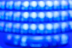 Grand bokeh (fond bleu) Photo stock