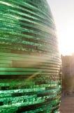 Grand bol en verre au coucher du soleil Image stock