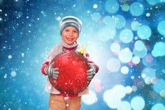 Grand bonheur de Noël photographie stock libre de droits