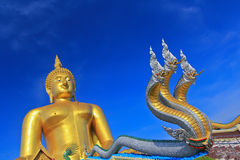 Grand Bouddha chez Wat Muang, Thaïlande Photo libre de droits
