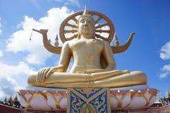 Grand Bouddha chez Wat Phra Yai Temple en Koh Samui, Thaïlande Images stock