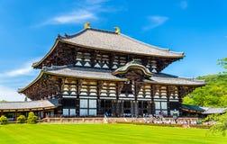 Grand Bouddha Hall de temple de Todai-JI à Nara Photos stock