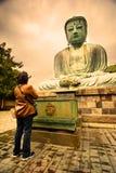 Grand Bouddha ou grand Bouddha de Kamakura Daibutsu photographie stock libre de droits