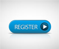 Grand bouton bleu de registre Photos libres de droits