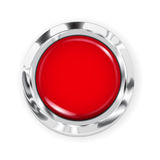 Grand bouton rouge Image libre de droits