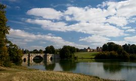 The Grand Bridge. At Blenheim Palace Royalty Free Stock Images